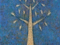 «Белое дерево на голубом фоне»