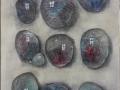 Четырнадцать камней, 2018 год, холст, см. техника, 50х30 см.