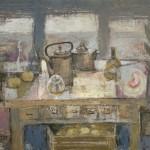 «Натюрморт с сарделькой и видом на море» масло, холст Размеры-97х130 2009 год